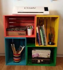 craft room furniture michaels. next time youu0027re at michaels grab a few storage crates and copy this womanu0027s simple clever idea craft room furniture o