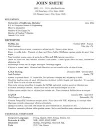 Simple Latex Resume Template