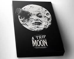 home theater art. a trip to the moon art for movie lovers - home theater art, m
