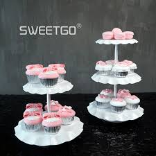 Coffee Shop Display Stands White Color Wedding Cake Stands Cupcake Plates for Home Party 62