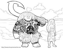Color Sheet Disney S Moana Coloring Pages Free Printable 33002550