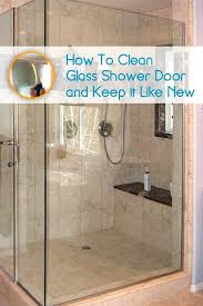 best way to clean glass shower doors with hard water stains