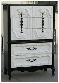 cool vintage furniture. so cool vintage refurbished black u0026 white hollywood regency tallboy dresser check furniture l