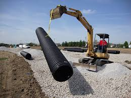corrugated plastic pipe is ideal for storm sewer systems such as underground retention detention systems as it has the structural strength and watertight
