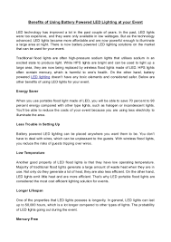 battery lighting solutions. Battery Lighting Solutions T