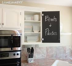 Chalkboard In Kitchen Kitchen Cabinet Chalk Paint Makeover Creative Home