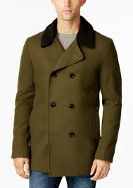 american rag men s notch collar double ted peacoat only at macy s