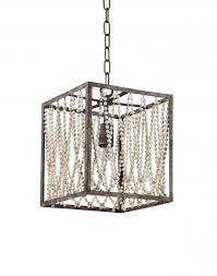 bali square pendant lamp with wood beads larger image