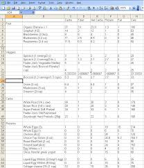 diet excel sheet starting a new diet make a solid plan otakuandfit com