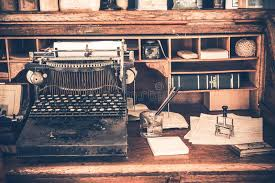 old desk vintage typewriter stock image image of bank desktop 42121215