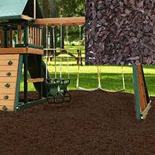 rubber mulch review. Brilliant Mulch KIDWISE Swing Set Playground Rubber Mulch 75 CuFt PalletChocolate Brown In Review E