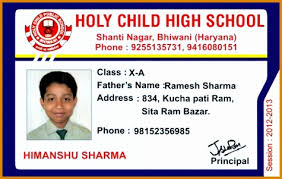 School Id Card Format Under Fontanacountryinn Com