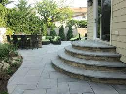stone patio steps patio cast stone slab long island diy paver patio steps