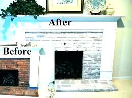 painting a brick fireplace brick fireplace surround whitewash brick fireplace painted brick fireplace before and after