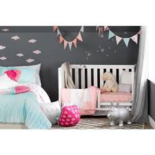 dreamit 3 piece pink doudou the rabbit baby crib bed set and pillow