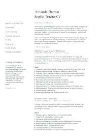 Resume Template For Teaching Position Resume Web