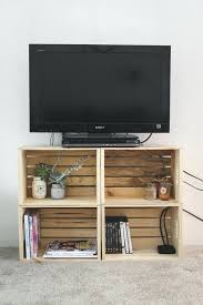 stand from old crates homemade tv diy corner cabinet ideas