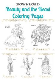 Small Picture Free Beauty and the Beast Coloring Pages Download and Print Here