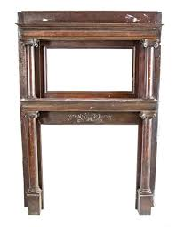 all original and completely intact late 19th century american victorian era varnished quartered oak wood fireplace