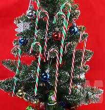 Large Candy Cane Decorations Large Festive Glitter Xmas Tree Candy Cane Red White Hanging Bow 42