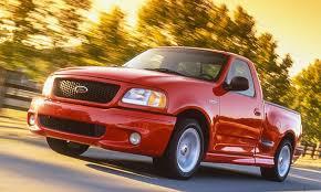 red ford lightning svt lightning driving
