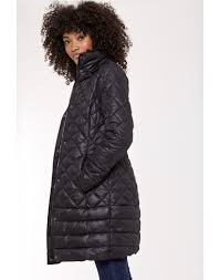Joules Women's Snowshill Padded Long Line Coat With Faux Fur Hood ... & ... Joules Women's Snowshill Padded Long Line Coat With Faux Fur Hood -  Black X_SNOWSHILL ... Adamdwight.com