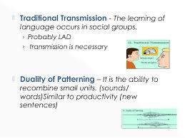 Duality Of Patterning Mesmerizing Language Features