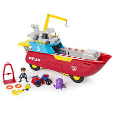 Paw Patrol toys set Dog Marine rescue boat Puppy paw patrol Play ...