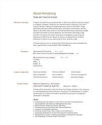 Credit Analyst Resume Sample Credit Analyst Resume Graduate Financial Analyst Resume