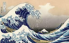 ocean wave ilration japan artwork