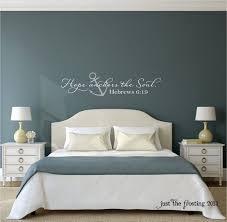 hope anchors the soul wall decal hebrews 6 19 vinyl wall decal scripture vinyl letteringl bedroom