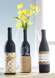 Display table numbers oh-so-tastefully with these chalkboard-painted,  burlap-  Crafts With Wine BottlesWrapped ...