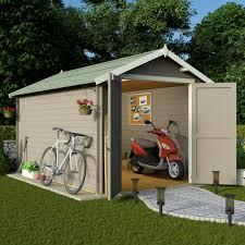 billyoh 12 x 8 19mm log cabin heavy duty garden shed