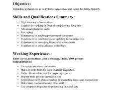 Entry Level Accounting Resume Freelance Producer Sample Resume
