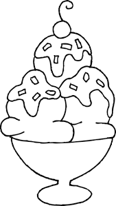 ice cream sundae coloring page. Interesting Page Free Clip Art Inside Ice Cream Sundae Coloring Page R