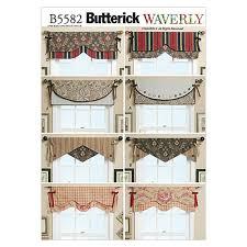 Window Valance Patterns Enchanting Butterick Reversible Window Valance Pattern B48 Size OSZ