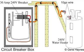 basic 240 & 120 volt water heater circuits 30 Amp Contact Wiring Diagram RV AC Wiring Diagram