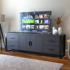 Milan 70 Inch TV Stand In Charcoal And Black Black 65 Inch Tv Stand59