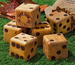 Wooden Yard Games Gigantic Board Game Dice Wood Yard Dice 27