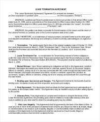 Sample Lease Termination Agreement Acepeople Co