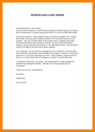 9 Emergency Medical Leave Letter Format It Cover Letter