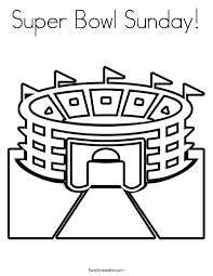 Small Picture Super Bowl Sunday Coloring Page Twisty Noodle