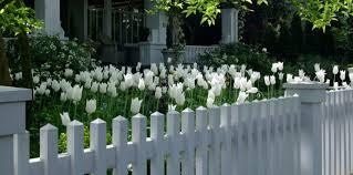white fence ideas. 4. Layers Of Tulips White Fence Ideas