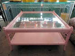 Faux Bamboo PINK Coffee Table