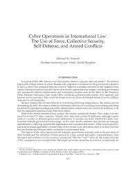 Cyber Operations In International Law The Use Of Force Collective