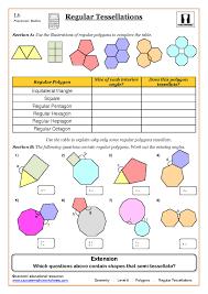 geometry maths worksheet ks3 regular shapes