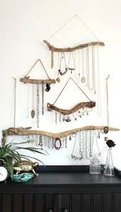 wall mounted necklace holders driftwood jewelry display wall mounted jewelry organizer necklace hanger jewelry holder set or single bohemian decor decor