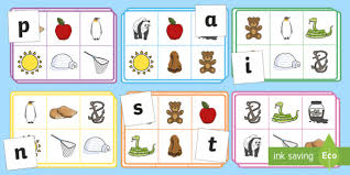 Jolly Phonics Alphabet Chart Free Printable Free Phase 2 Phonics Satpin Bingo Game Phonics Bingo