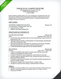 Legal Resume Examples Resume Example For Paralegal Legal Assistant