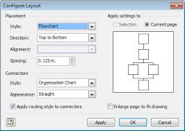 Visio Org Chart Connectors Layout Change Default Spacing In Visio Org Chart